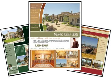 Color Flyers Real Estate Sales Brochure Templates - Real estate brochure templates